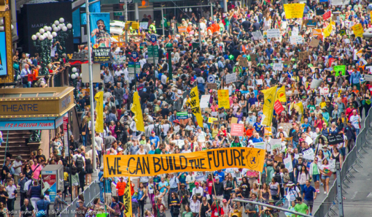 How can unions and social movements connect anti-austerity and climate justice policies?