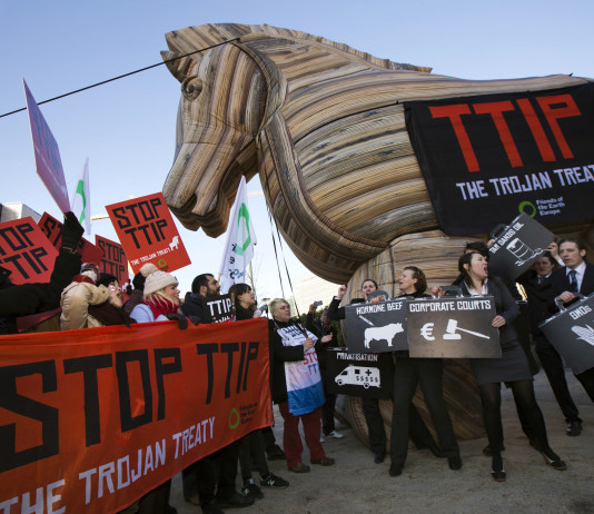 Big business orders its pro-TTIP arguments from think tanks