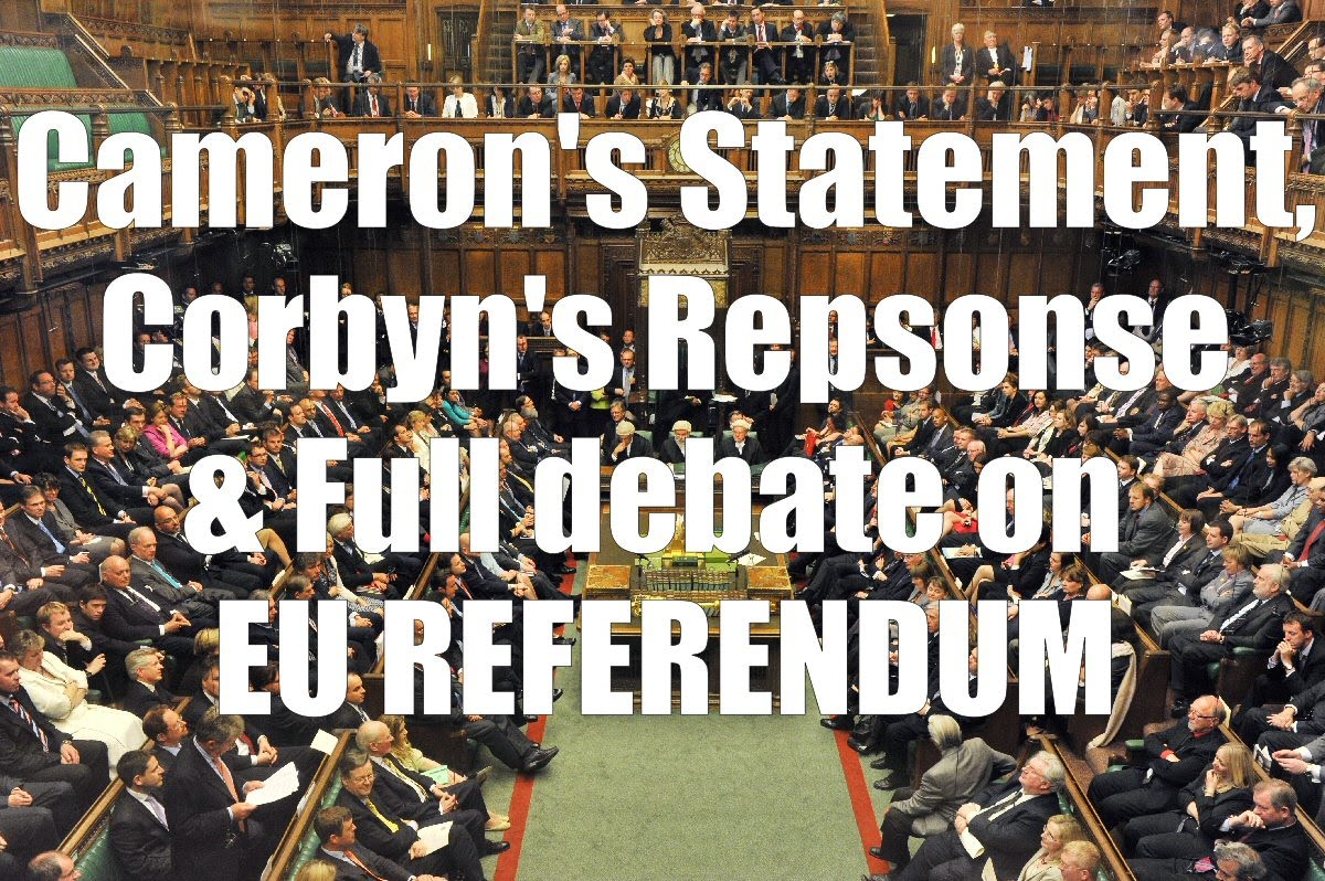 The Debate in British Parliament on Brexit including the intervention of Jeremy Corbyn