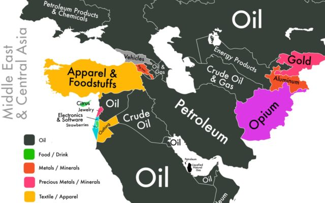 If we could only show you one map to explain the economy of the Middle East, it would be this one.