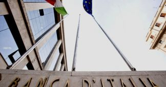 Italy banking crisis on the wall