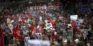 Anti – austerity strike action spreads in France and Belgium