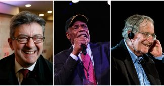 Mark Ruffalo, Danny Clover, Noam Chomsky pour Jean-Luc Melenchon