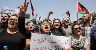 Hundreds protest against Israel in Jordan, call to end peace treaty