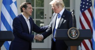 Tsipras: All Greek property to the Germans, All Power to US and Israel!