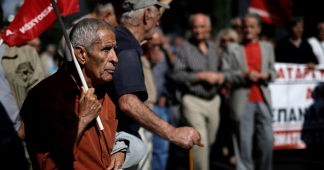 Greek Pensioners Take to Athens Streets to Protest Cutbacks