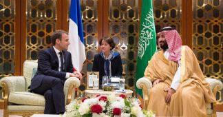 Macron Backs Saudi Drive for War