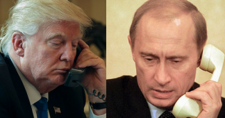 'We're talking strongly about bringing peace to Syria': Trump after hour-long phone call with Putin