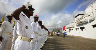 China opens first military base in Djibouti