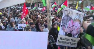 Massive Pro-Palestinian protest held in Paris ahead of Netanyahu's visit