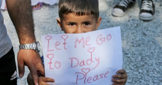 Trauma for migrant children stranded in Greece