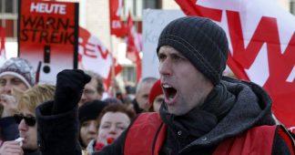 German industrial workers to stage 24-hour strikes
