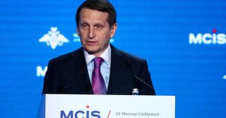 Russian Spy Chief Blasts 'Western Hypocrisy' With Orwell Quote, Warns of New Cold War