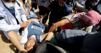 He was wearing a vest marked 'PRESS.' He was shot dead covering a protest in Gaza