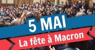 LA FETE A MACRON AG logistique du 24/04/2018 Bourse du travail Paris