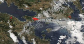 NASA satellite image captures devastation of Greece wildfires