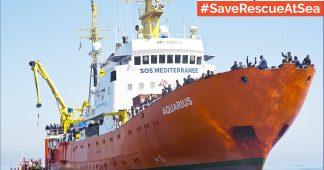 Sauvons l'Aquarius et le sauvetage en mer