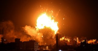 Israel bombs TV station in Gaza amid massive border flare-up