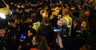 Gyros bleus Acte 1 – Policiers en colère à deux pas de l'Élysée / Paris – France 20 décembre 2018