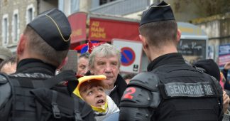 Protesters clash with French police in Souillac before Macron visit