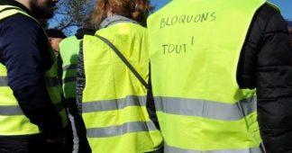Manifestation à Paris de Gilets jaunes