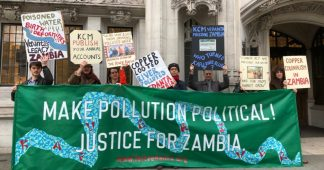 British mining firm in legal battle to stop Zambian farmers from suing it for polluting their source of water