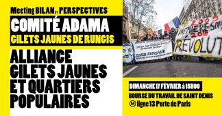 "Meeting ""Alliance Gilets Jaunes et Quartiers Populaires"""