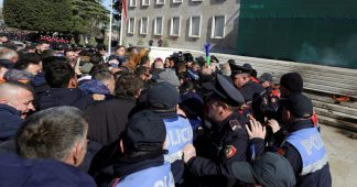 Chaotic scenes in Albania as opposition attempts to storm PM's residence