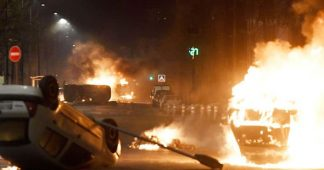FRANCE IN FLAMES: Rioters torch cars in FOURTH night of violence on streets of Grenoble