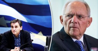 Schäuble, a ridiculous, sadist politician, serving the interests of Goldman Sachs!