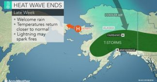 New high temperature records set in Alaska (again) as heat wave is set to relinquish grip