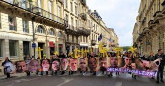 """Bordeaux. Une centaine de manifestants venus soutenir le collectif """"les mutilés pour l'exemple"""""""