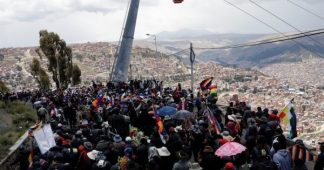 Bolivia: Police Attack Protesters Carrying Coffins of Killed