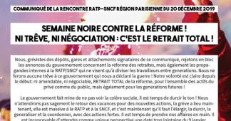 Semaine noire contre la réforme : ni trêve, ni négociation, c'est le retrait total !