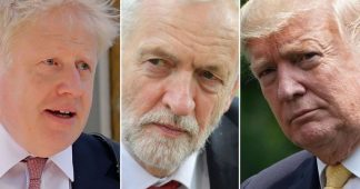 Labour 'surge' continues and Tory lead shrinks, as Donald Trump flies to UK for Nato summit