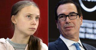 Goldman Sachs (Mnuchin) attacks Greta