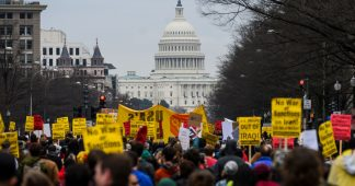 Anti-war protests held across the U.S. and the world