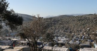 Greek island residents protest overcrowded migrant camps