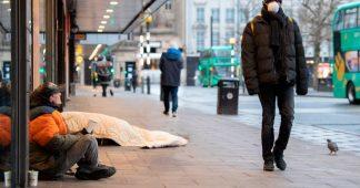 Homeless face desperation on London streets amid lockdown