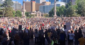 Enormous Crowds Flood Streets Across US