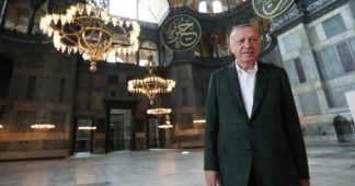 Erdogan inspects Hagia Sophia ahead of Islamic prayer on July 24