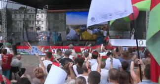 Rally in Support of Belarusian President Lukashenko in Grodno