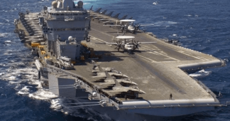 "France deploys ""battle ready"" aircraft carrier Charles de Gaulle to East Mediterranean"