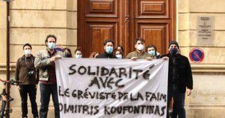 Solidarité avec le gréviste de la faim Dimitris Koufontinas