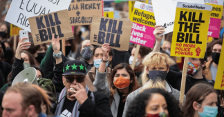 'Kill the Bill': Londoners march against proposed law that would give police more powers to crack down on public protests