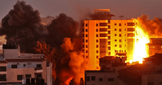 Rockets fired towards Tel Aviv after Gaza tower block destroyed