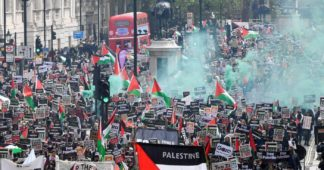 Tens of thousands attend largest pro-Palestine march in British history
