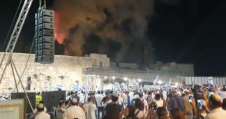 From Reichstag to Al Aqsa. Israeli settlers celebrate the fire at the mosque