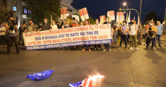 Anti-imperialist protest against NATO Military Committee summit in Athens
