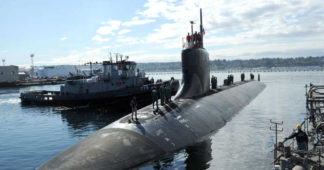 U.S. submarine damaged in South China Sea collision